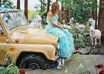 FÅR WHEEL DRIVE: Caroline Af Ugglas Oil Painting On Canvas, Prints, Art, Art Background, Kunst, Printed, Performing Arts, Art Print