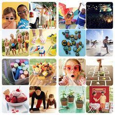a GREAT list of... 100 Rockin Summer Activities For Kids!!!