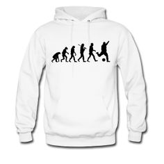 $45.00 Men's FOOTBALL EVOLUTION Hoodie - All Sizes & Colors #soccer #football #foot #ball #evolution #human #kind #humans #evolving #monkeys #primates #footballs #ball #balls #playing #play #game #games #gaming #FIFA #15 #16 #new #brazil #england #europe #world #worldcup #cup #country #countries #field #david #beckham #messi #ronaldo #teams #team #jersey #art #design #hoodie #mens #sweater #clothing #apparel #clothes #gift #poster #wallpaper #shipping #worldwide