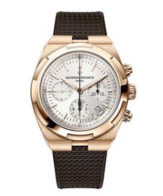 Vacheron Constantin Overseas Chronograph Calibre 5200 in pink gold Old Watches, Swiss Army Watches, Dream Watches, Latest Watches, Popular Watches, Gentleman Watch, Vacheron Constantin, Beautiful Watches, Elegant Watches