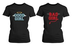 Best Friend Shirts - Good Girl Bad Girl Bff T-Shirts For Halloween