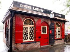 Louis Lunch in New Haven CT is home of America's very first hamburger sandwiches. No wonder it's a must with Yale University students. http://www.louislunch.com/