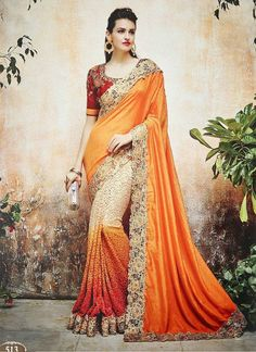 Wedding - Online saree shopping India at sarees palace. choose from a huge collection of designer, ethnic, casual sari, buy sarees online India for all occasions. Bridal Sarees Online, Party Wear Sarees Online, Online Shopping Sarees, Sarees Online India, Saree Shopping, Lehenga Saree, Bollywood Saree, Georgette Sarees, Anarkali