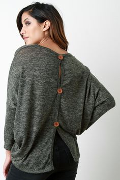 Button Me Up The Back Sweater