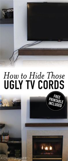 How to hide ugly TV cords image.