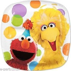 Details about SESAME STREET SMALL PAPER PLATES (8) ~ Birthday Party Supplies Cake Dessert Elmo  sc 1 st  Pinterest & Pin by Danza Davis on Elmo Pin The Nose Ideas for Obedu0027s 3rd ...