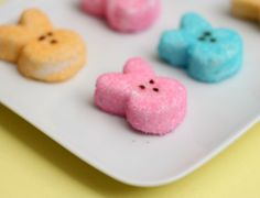 The homemade Peeps turned out great – imagine biting into a fluffy cloud of marshmallow, with a little crunch from the sprinkles. Store bought Peeps don't even compare!