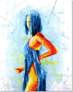 Original Women Painting by Lubosh Valenta Blue Painting, Woman Painting, Oil On Canvas, Canvas Art, Original Paintings, Original Art, Figurative Art, Art Oil, Surrealism