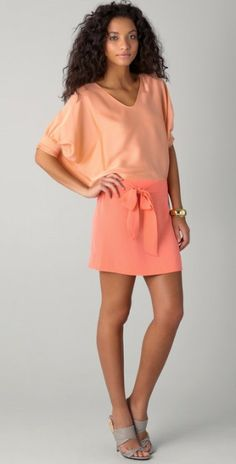 Diane Von Furstenberg Pink Edna Dress Style outfit clothing women apparel fashion coral warm colored beautiful girl