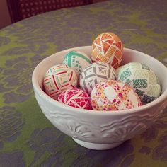 washi tape Easter eggs
