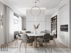 DE&DE/Eclecticism in the heart of Saint-Petersburg on Behance Home Decor Kitchen, Kitchen Interior, Room Interior, Deco Design, Küchen Design, House Design, Luxury Dining Room, Dining Room Design, Classic Interior