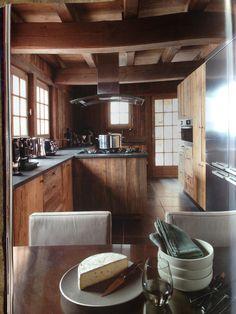Chalet kitchen. Rustic modern