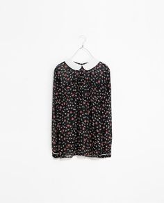 ZARA - WOMAN - FLORAL TOP WITH BUTTONS ON THE BACK