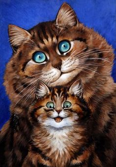 mother and child, louis wain