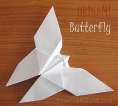origami BUTTERFLY :: paper animals and worlds :: free templates and tutorials