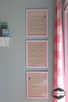 For the musical family: Frame sentimental song lyrics in the nursery. {This is the parent's wedding song} #nursery #music #walldecor