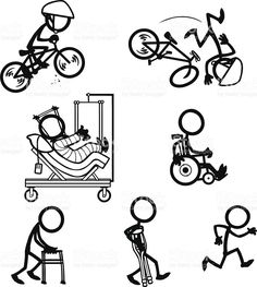 Stick Figure People Bike Accident Recovery royalty-free stick figure people bike accident recovery stock vector art & more images of bicycle Doodle Drawings, Doodle Art, Line Drawing, Painting & Drawing, Doodle People, Stick Figure Drawing, Stick Man, Sketch Notes, Stick Figures