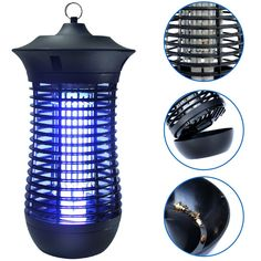 EasyGo Zapper - Mosquito Bug Killer Trap Water Tray, Electric Shock, Bug Zapper, Flying Insects, Electrical Outlets, Modern Design, Bugs, Lamp Light, Cleaning