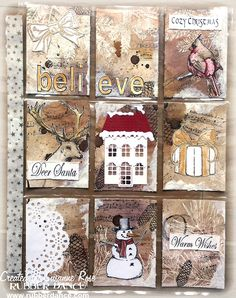 Rubber Dance Blog: Christmas Pocket Letter by Susanne
