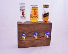 Wood Liquor Dispenser/Decanter by NomadWoodworkingShop on Etsy