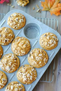 Make homemade whole wheat pumpkin muffins for breakfast.