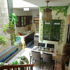 Trendy Home Decored Indian Living Rooms Interior Design Ideas Patio Interior, Interior Exterior, Interior Design Living Room, Home Room Design, Home Garden Design, House Design, Small Kitchen Makeovers, Small Tiny House, Home Wallpaper