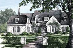 This european design floor plan is 3049 sq ft and has 5 bedrooms and has 4.5 bathrooms. French Country Exterior, French Country House Plans, French Country Bedrooms, French Country Farmhouse, Country Style Homes, French Country Style, French Country Decorating, French Cottage Style, Bedroom Country