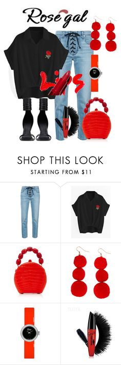"""""""Rosegal Lips"""" by giulia-ostara-re ❤ liked on Polyvore featuring A.L.C., Rick Owens, Nancy Gonzalez, Humble Chic, Christian Dior, contest, blouse, plussize and rosegal"""