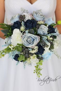 Navy blue baby blue dusty blue white wild flower fake flowers artificial cheap round bridal bouquet Wedding Bouquet This Wedding Bouquet board is curated by Loved Films Wedding Cinematography Blue Flower Arrangements, Blue Flowers Bouquet, Blue Wedding Flowers, Bridal Flowers, Flower Bouquet Wedding, Navy Blue Flowers, Blue Wedding Bouquets, Succulent Bouquet, Fake Flower Bouquets