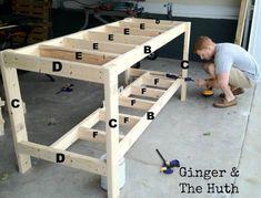 DIY Work Bench #woodworkingbench