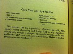 Cornmeal and rye muffins