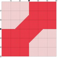 Collection 2 of Free Needlepoint Charts of Popular Quilt Block Designs: Bowtie Quilt Block Needlepoint Coaster Pattern