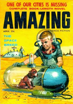 The Space Breed - Amazing SF 1956 Ed Valigursky cover