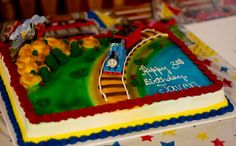 Chic Productions: Thomas the Train Theme Birthday Party. great ideas for games and favors