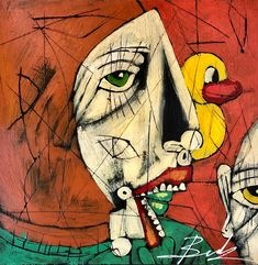 Abstract with Duck by Michael Banks Michael Banks, Atlanta Art, Outsider Art, Black Art, Contemporary Artists, Art Museum, Framed Art, Folk Art, Spiderman