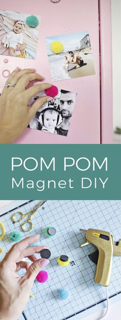Pom Pom Magnets DIY