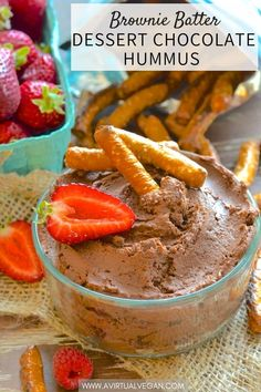 This is what happens when a beautiful chocolate brownie and a handsome can of chickpeas have a secret love child……Yes it's Brownie Batter Dessert Hummus….Yes it is amazingly delicious….And yes dessert hummus is a thing! #desserthummus #hummus #chocolatehummus #chocolate #vegan #browniebatter #browniebatterhummus