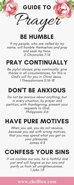 12 Bible Verses on How to Pray
