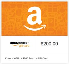 Chance to Win a $200 Amazon Gift Card! This sweepstakes is for Kudosz email subscribers only. I am running this exclusive sweepstakes for my email subscribe