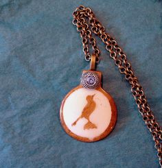 Wooden Bird Pendant with Pretty Silver by GrayStormCreations, $12.00