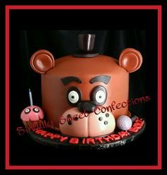 Five Nights at Freddy's Theme Birthday Cake