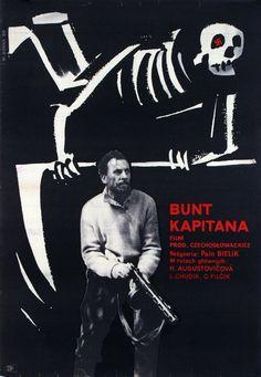 Bunt kapitana Original Polish movie poster film, Czech director: Palo Bielik actors: Hilda Augustovicova, Ladislav Chudik designer: Wiktor Gorka year: 1960 size: A1