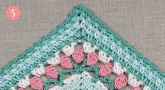 The Meadow CAL 2016 - Edging The Blanket - DROPS Design - FREE CROCHET FLOWER BLANKET PATTERN....