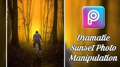 PicsArt Editing Tutorial | Dramatic Sunset Forest Photo Manipulation Eff... Picsart Tutorial, Sunset Photos, Photo Manipulation, Tutorials, Youtube, Photography, Photo Editing, Photograph, Fotografie