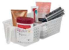Amazon.com: Perfect Pantry 2-Section Handy Basket, Clear: Kitchen & Dining