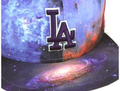 Los Angeles Dodgers Galaxy 59Fifty Fitted Baseball Cap by NEW ERA x MLB
