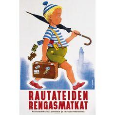 Rautateiden Rengasmatkat Ring Rail trips Osmo K. Oksanen  1950-