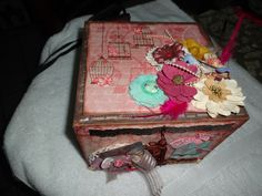 Caixa álbum: mdf e scrapdecor