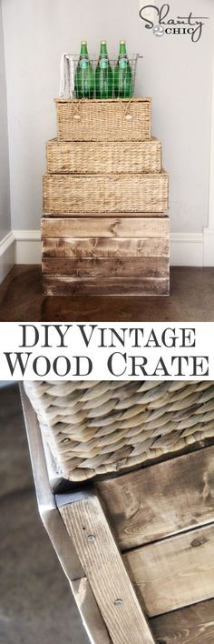 DIY Rustic Wood Crate for $9