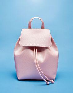 Textured backpack - Bags - Bershka Croatia